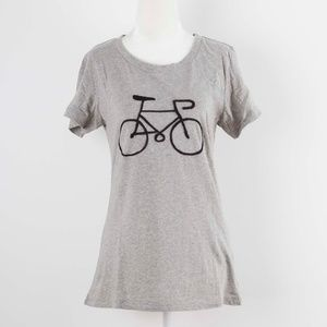 French Connection Bike Embroidered Tee